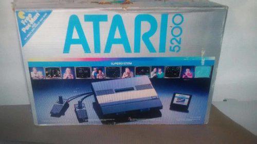 Atari 5200 de colexcion original. incluye 4 juegos