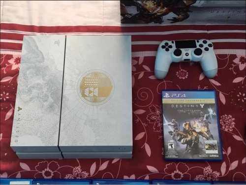 Consola ps4 edición destiny blanca 500gb 17 juegos. 2 cont