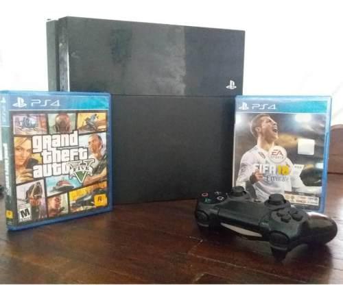 Play station ps4 500gb disco duro con 2 juegos con 2 control