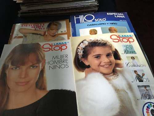 Revistas varias, tejidos punto de cruz, labores