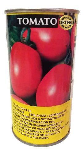 Semillas certificadas de tomate lata de 100 gramos bonanza