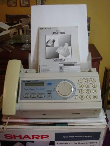 Telefax y copiadora sharp ux-p200