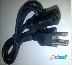 Cable de poder para computadoras, impresoras, tv, etc