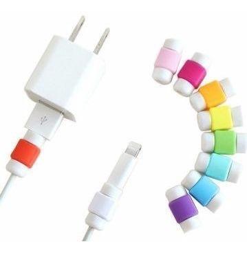 10 protectores de cable para iphone ipad mac no enviamos
