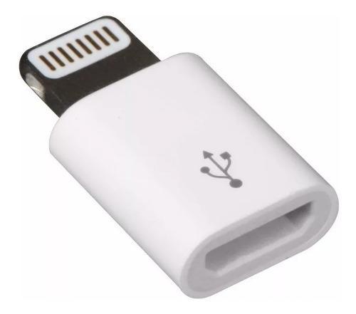 Adaptador convertidor de samsung a lightning iphone apple