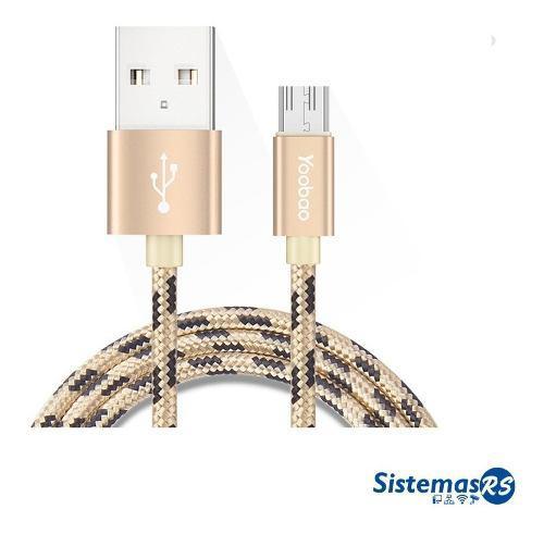 Cable cargador data micro usb yoobao 100cm