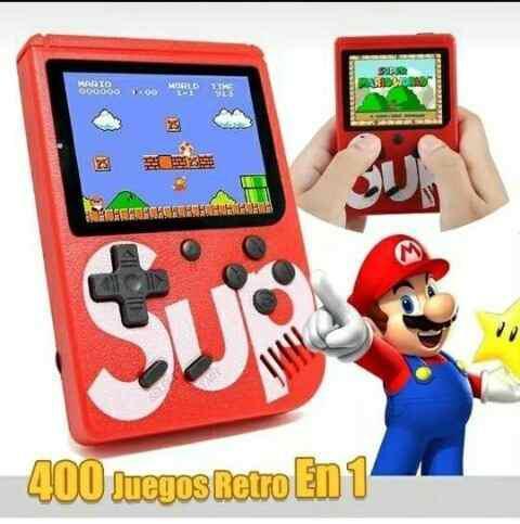 Consola portatil sub game box trae 400 juegos juguete niño