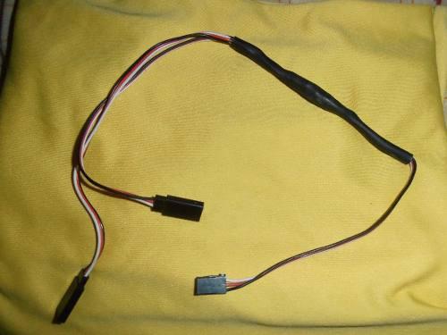 Extension en y con su conector para aviones y carros rc