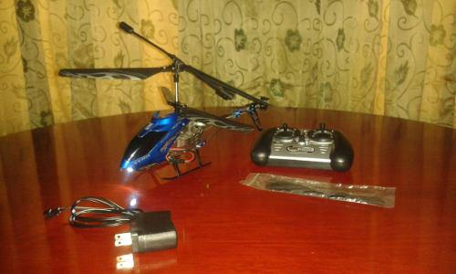Helicoptero grande a control remoto grande (25 vrds)