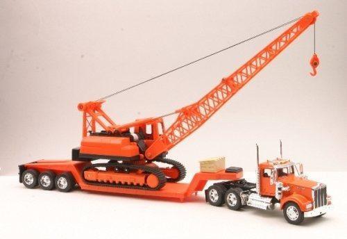 Kenworth w900 camion lowboy grua rayo.
