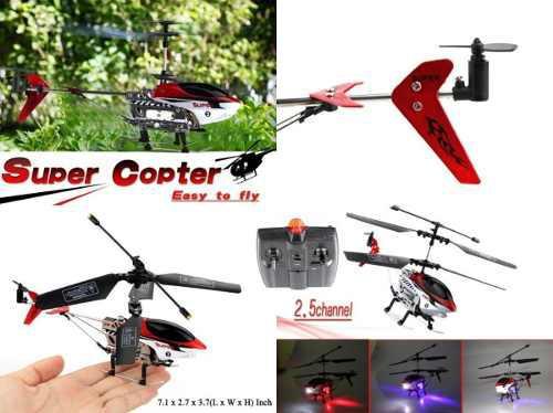 Mini super helicóptero 2.5 canales rc infrarrojos 2010-1 r4