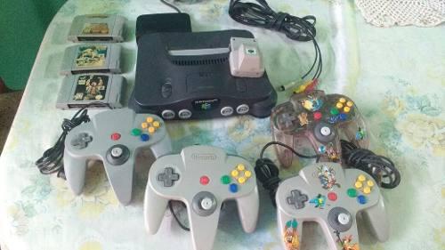 Nintendo 64, 2 Controles 1 Juego- 30v