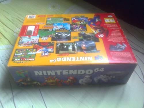 Nintendo 64 en caja,muy buenas condiciones