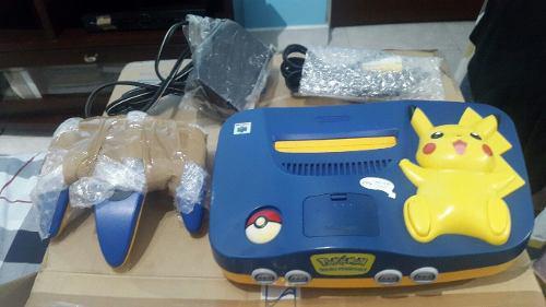 Nintendo 64 pikachu edition (edición especial pikachu)