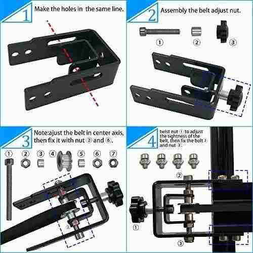 Para impresora tensor cinta elastica creality cr-10 uvkc