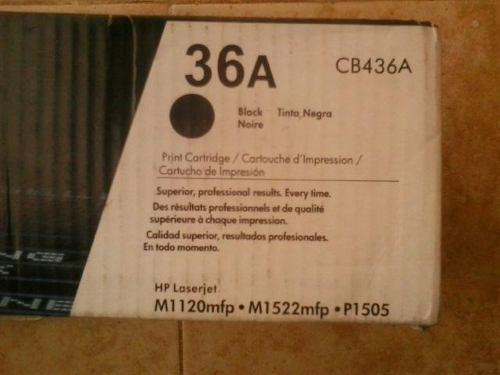 Toner cartucho drum tinta laserjet hp 36a serial: cb436a