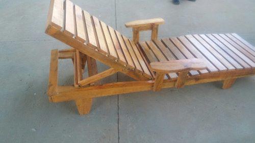 Cama silla tumbona para playa asoleadora playera de madera