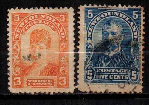 Estampillas inglaterra-terranova 1892-1918 usadas af