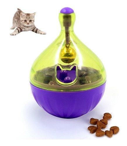 Juguete entrenamiento gato mascota vaso fuga alimento b0vw