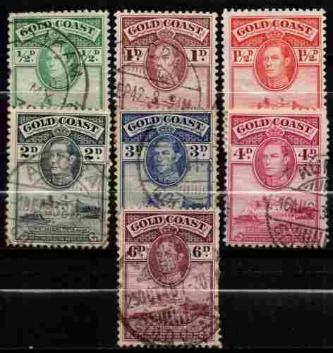 Lag estampillas costa de oro 1938-41 usadas