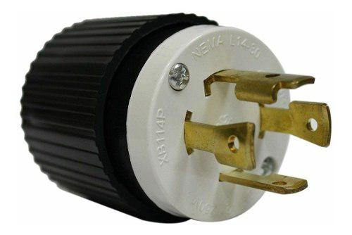 Oferta: conector enchufe l14-30 plantas 4 patas 30amp lara.
