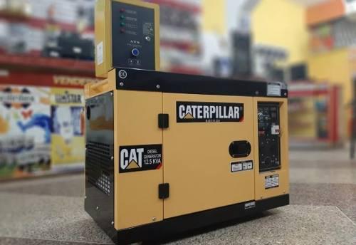 Planta eléctrica caterpillar 12.5kva ats voltimetro digital