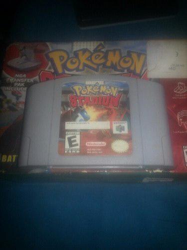 Pokemon stadium cartucho caja juego original nintendo 64 n64