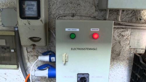 Transferencia manual para plantas eléctricas y inversores.
