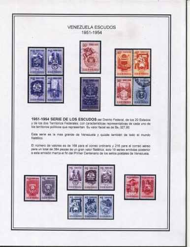 Lbum completo serie escudos de venezuela 1951-1954