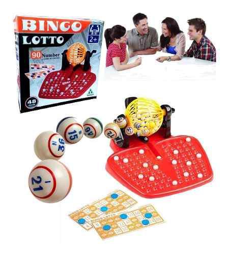 Bingo familiar juego con esfera 90 números 48 cartones r4