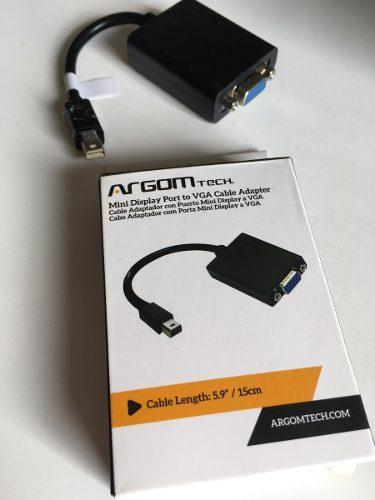 Cable adaptador mini display port a vga para apple.