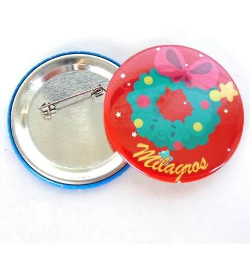 Chapas De Pin Alfiler 55mm Personalizadas Con Nombre Navidad