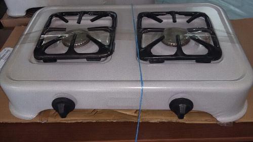 Cocina de mesa a gas de 2 hornillas