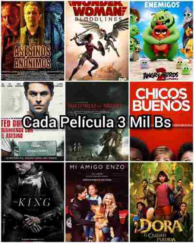 Combo de películas digitales full hd bluray para pendrive