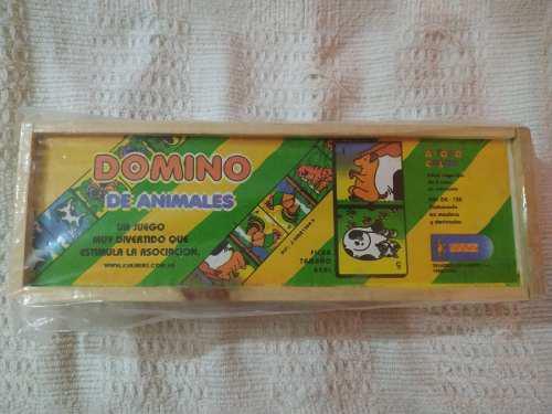 Domino educativo de madera(juego didactico)