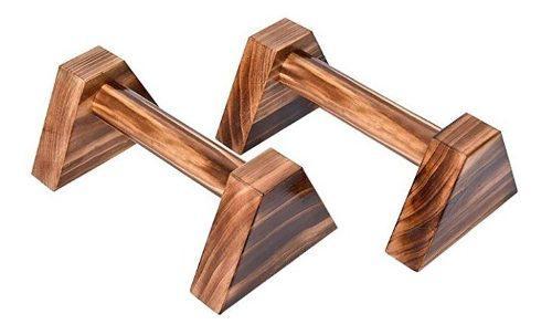 Mini paralelas, soporte de madera para ejercicio