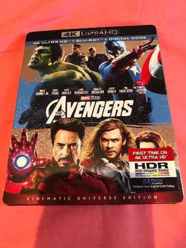 Pelicula avengers 4k ultra hd + bluray original