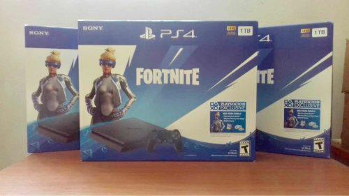 Playstation 4 slim 1 tb (320) sellado + garantía + fornite