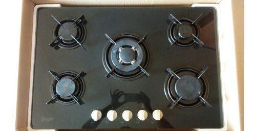 Tope de cocina 5 hornillas 77 cm siragon de lujo a gas 270 d