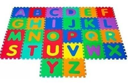 Alfombra foami piso de 26 piezas el abecedario nuevo