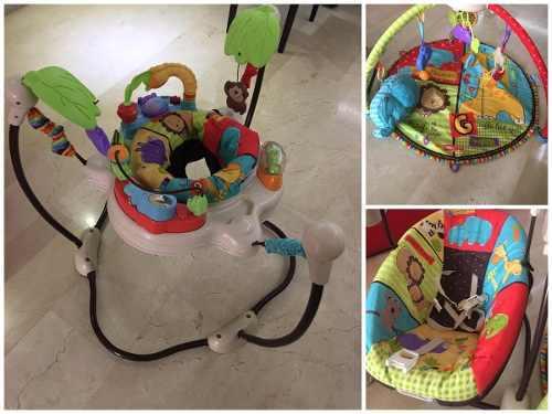 Set de entretenimiento pata bebés fisher price zafary