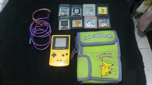 Gameboy color amarillo c/ bolso, 11 juegos y más!