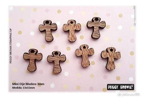 Mini dijes madera bisutería virgen cruz angel 36pz surtidas