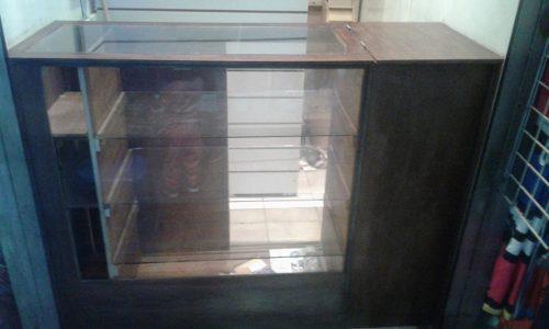 Mostrador vitrina para tienda exhibidor madera mdf