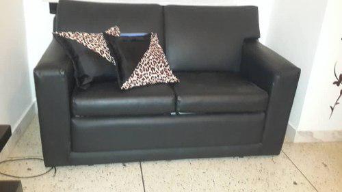 Sofa cama de semi cuero 2 puestos oferta