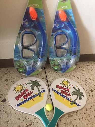 Careta De Buceo Y Snorkel Inyección Polycsrbonato Y