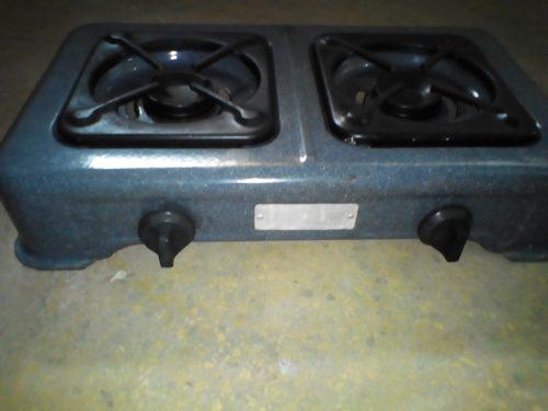 Cocina a gas dos hornillas usada