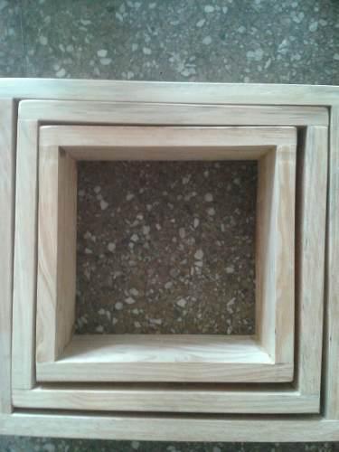 Cubos de madera pino combo de 3 piezas