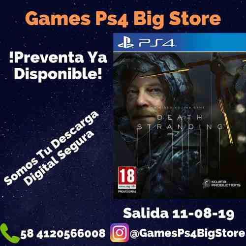 Death stranding preventa digital ps4 gamesps4bigstore