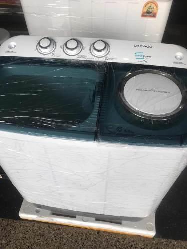 Lavadora daewoo semi automática 7 kilos